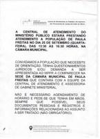 Atendimento Ministério Público
